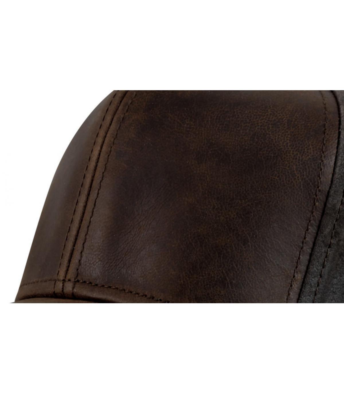 b5a08ae82b157 Casquette campbell cuir - Campbell cuir brown par Stetson.