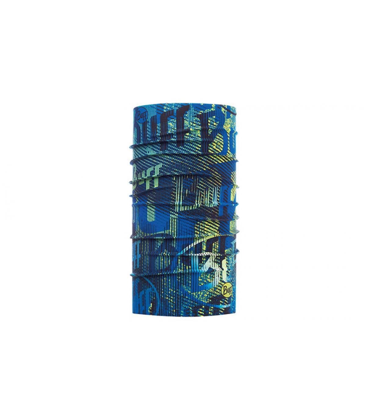 Buff bleu imprimé logo