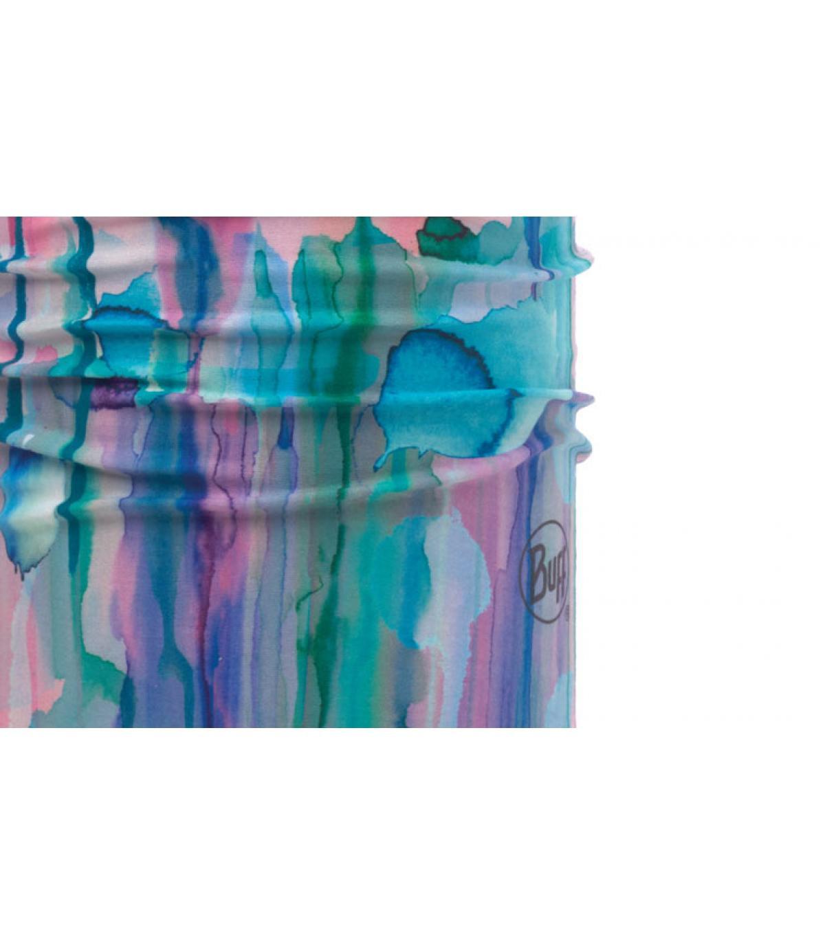 Buff imprimé bleu rose