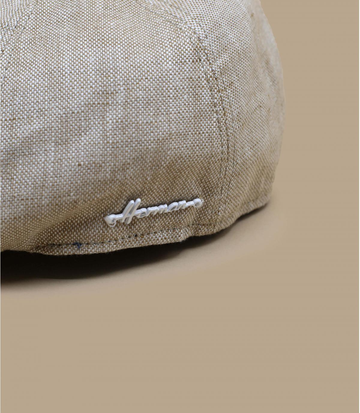 casquette beige lin Herman