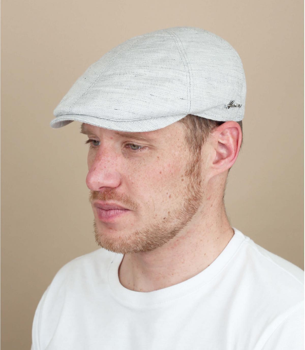 casquette gris lin