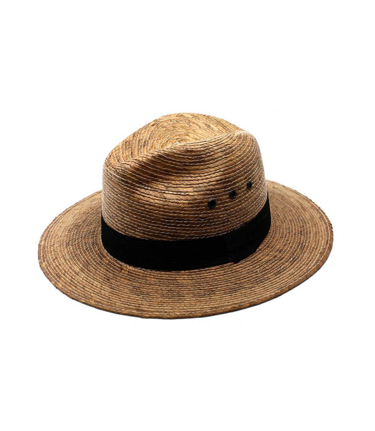 chapeau paille œillet galon