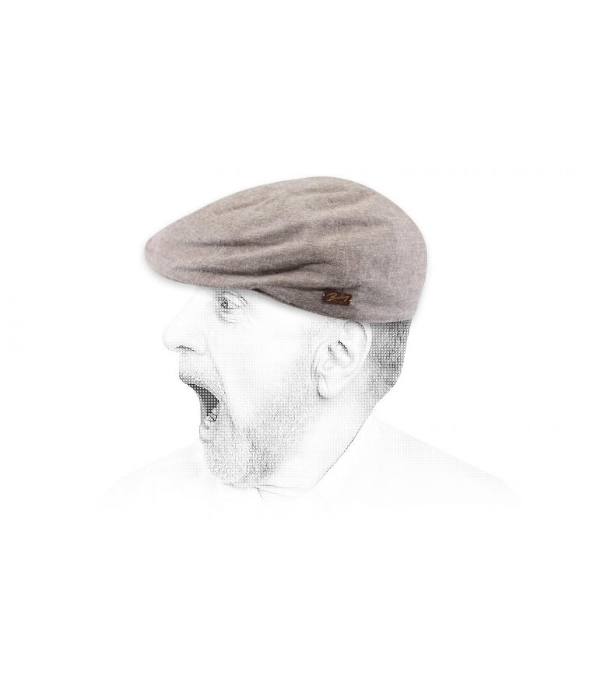 casquette duckbill coton marron