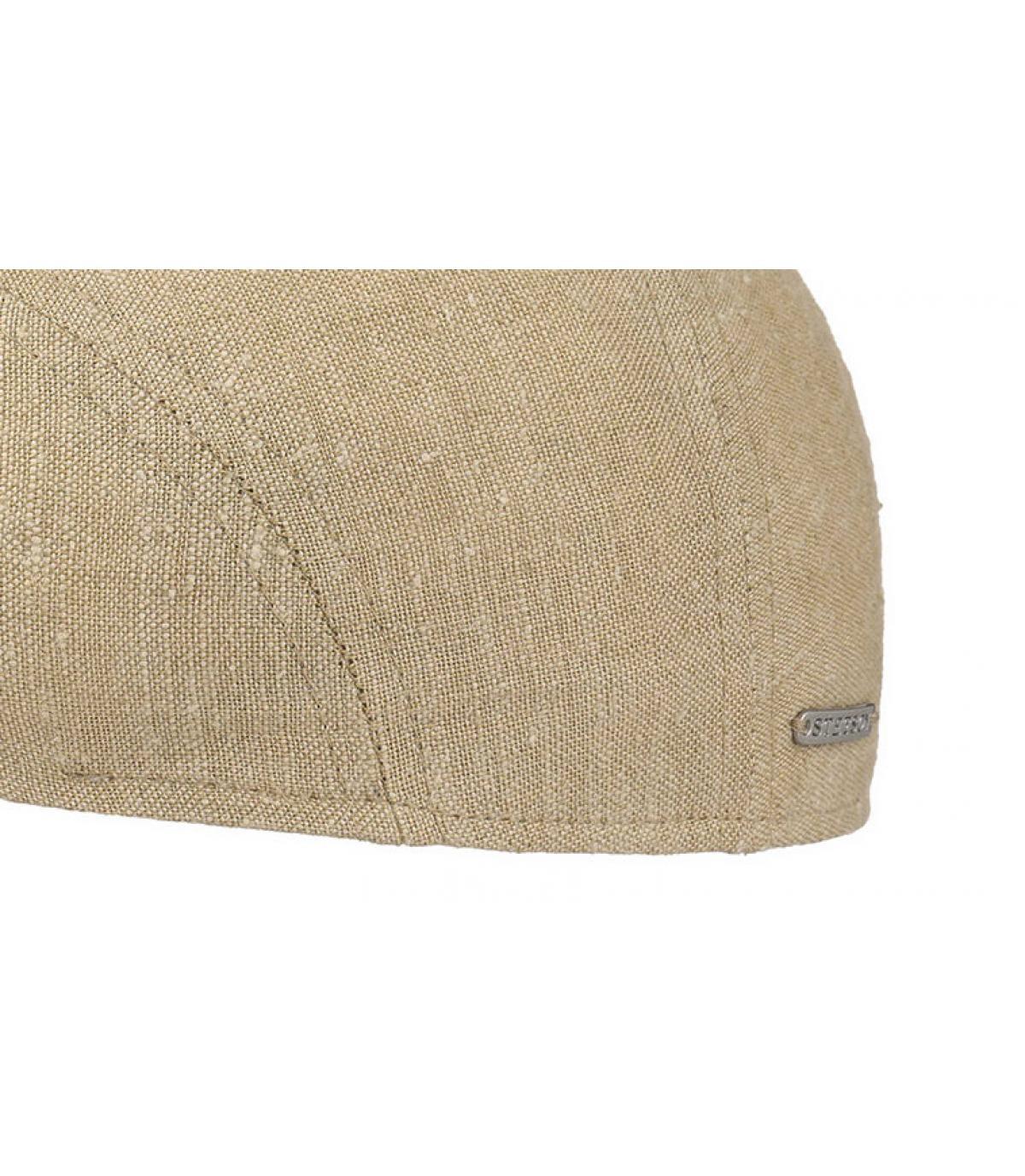 Détails Ivy cap lin soie beige - image 3