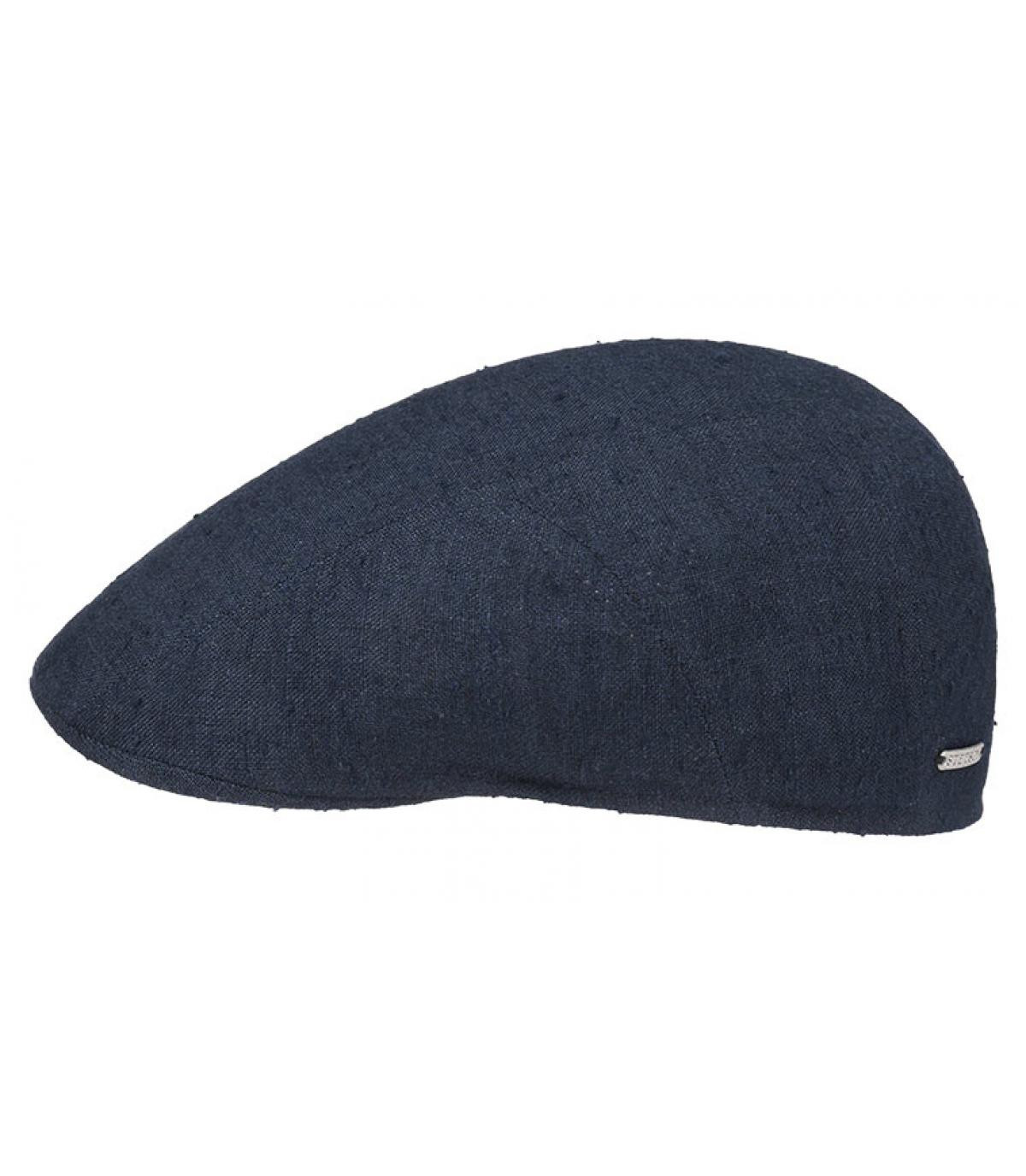 Détails Ivy cap lin soie navy - image 2