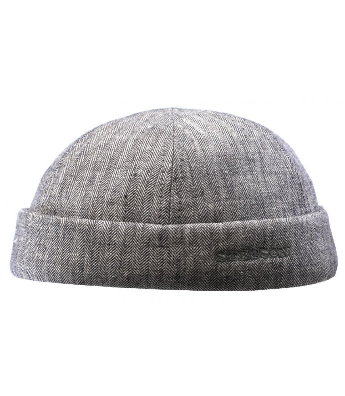 bonnet docker lin gris