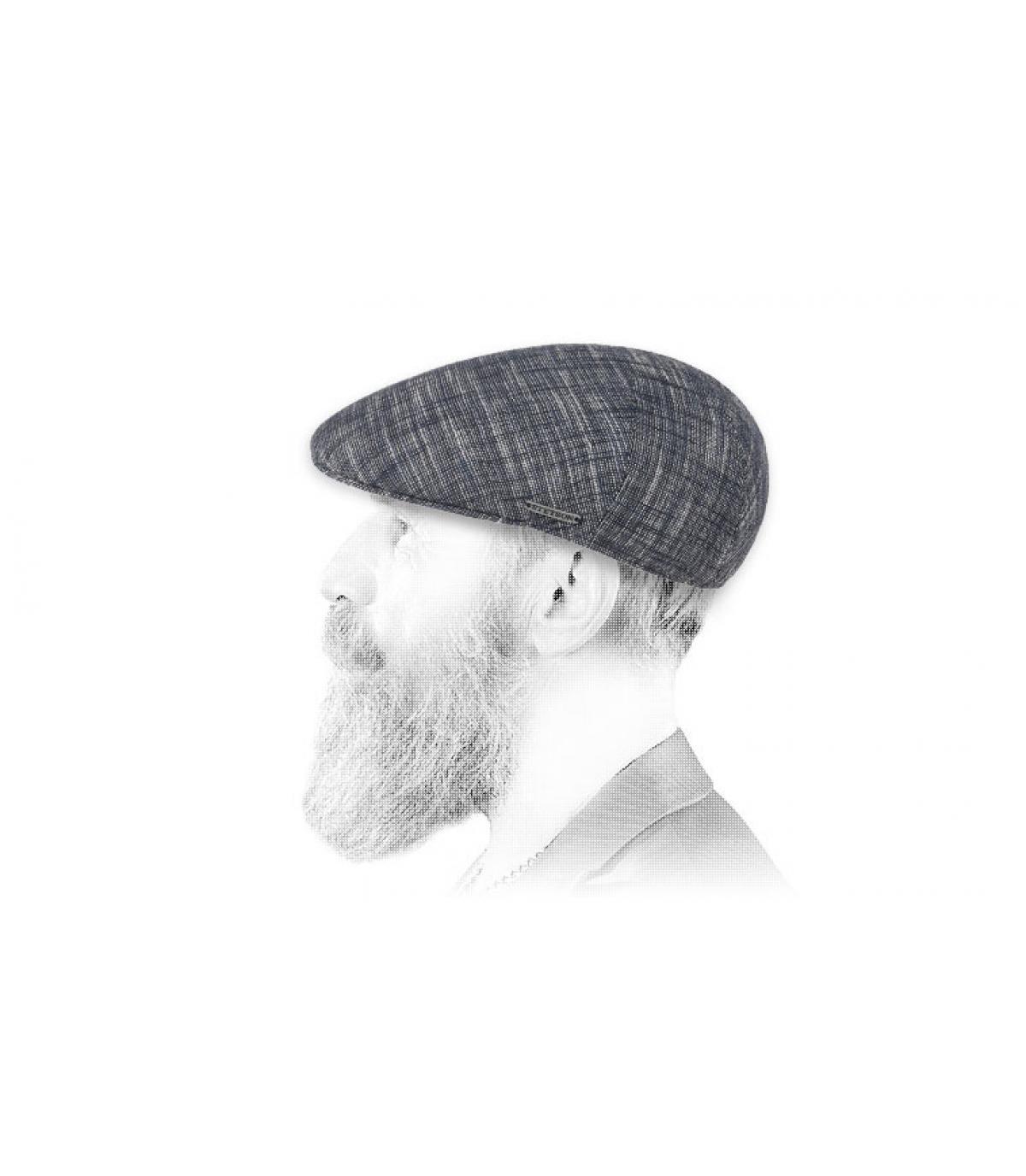 beret bleu coton