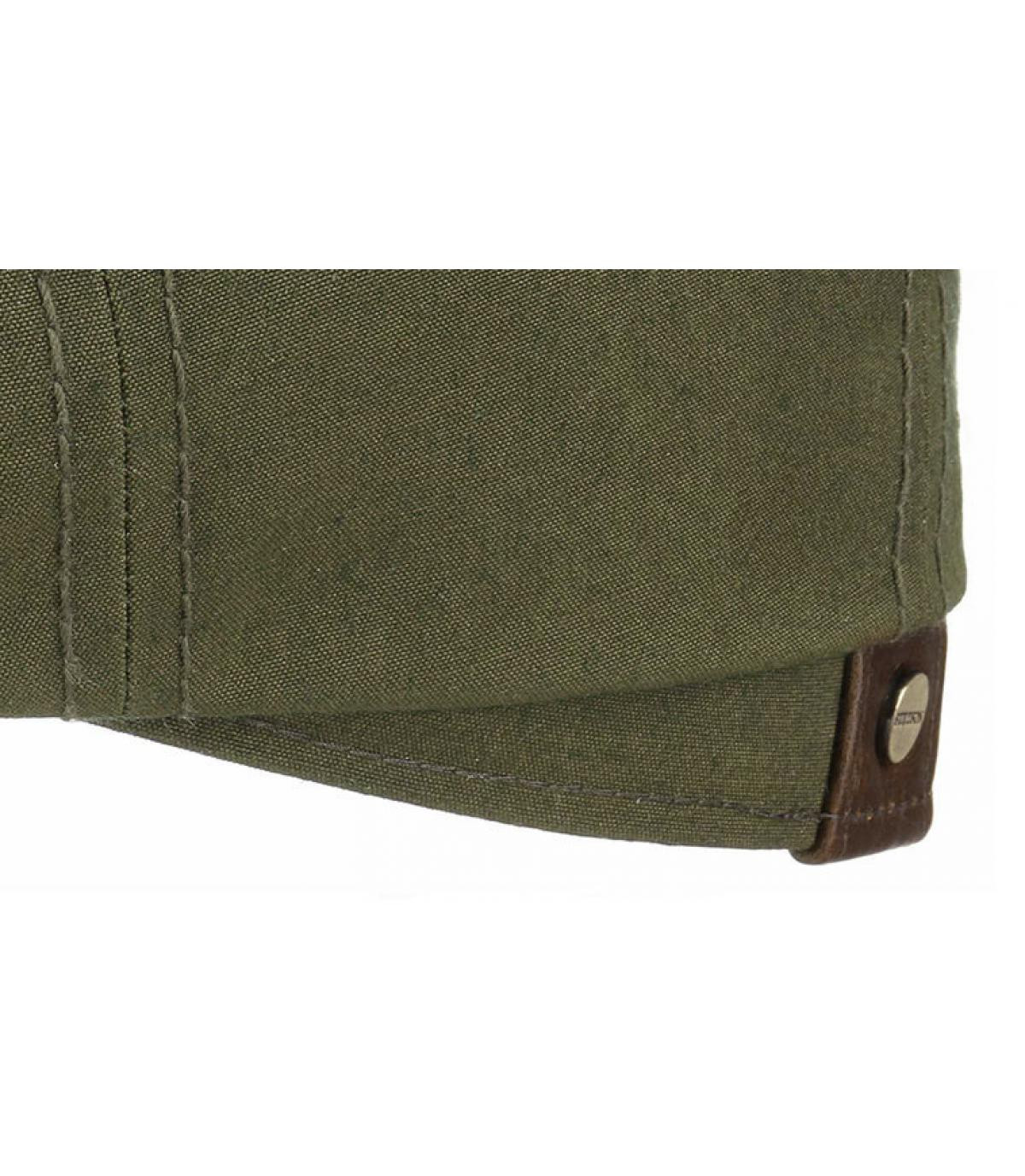 Détails Hatteras waxed coton leather olive - image 3