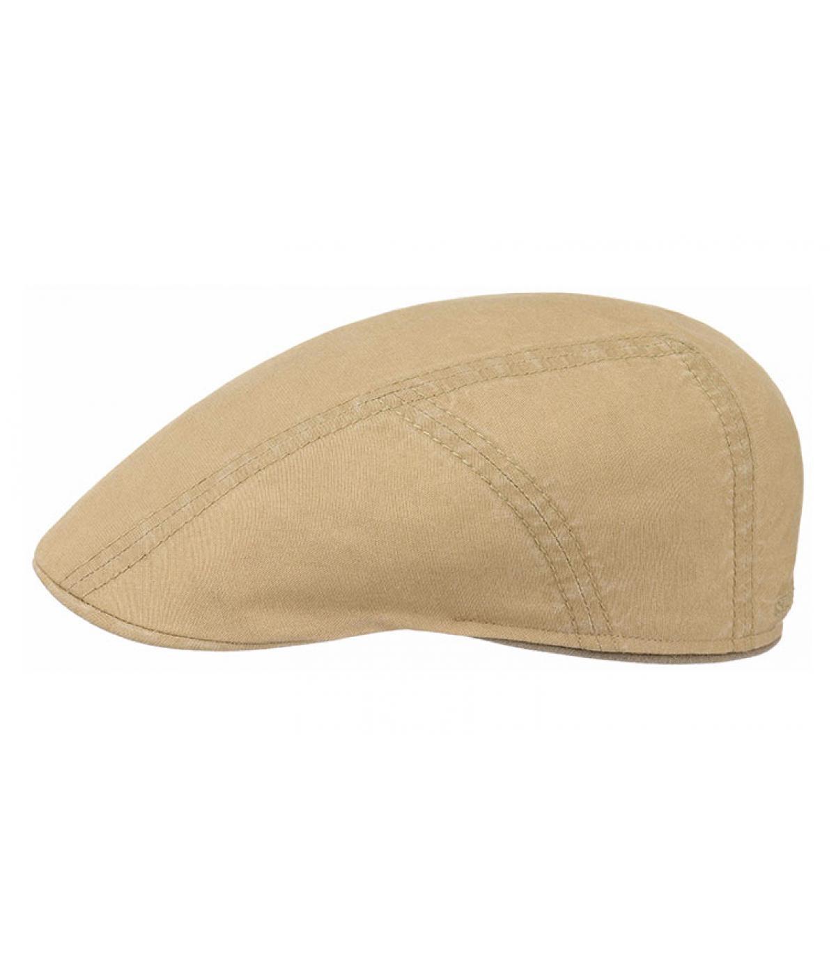 Détails Ivy cap coton lin beige - image 2