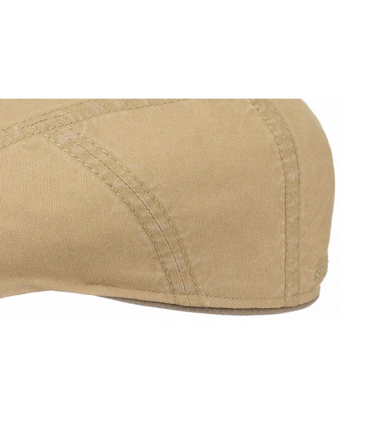 Détails Ivy cap coton lin beige - image 3
