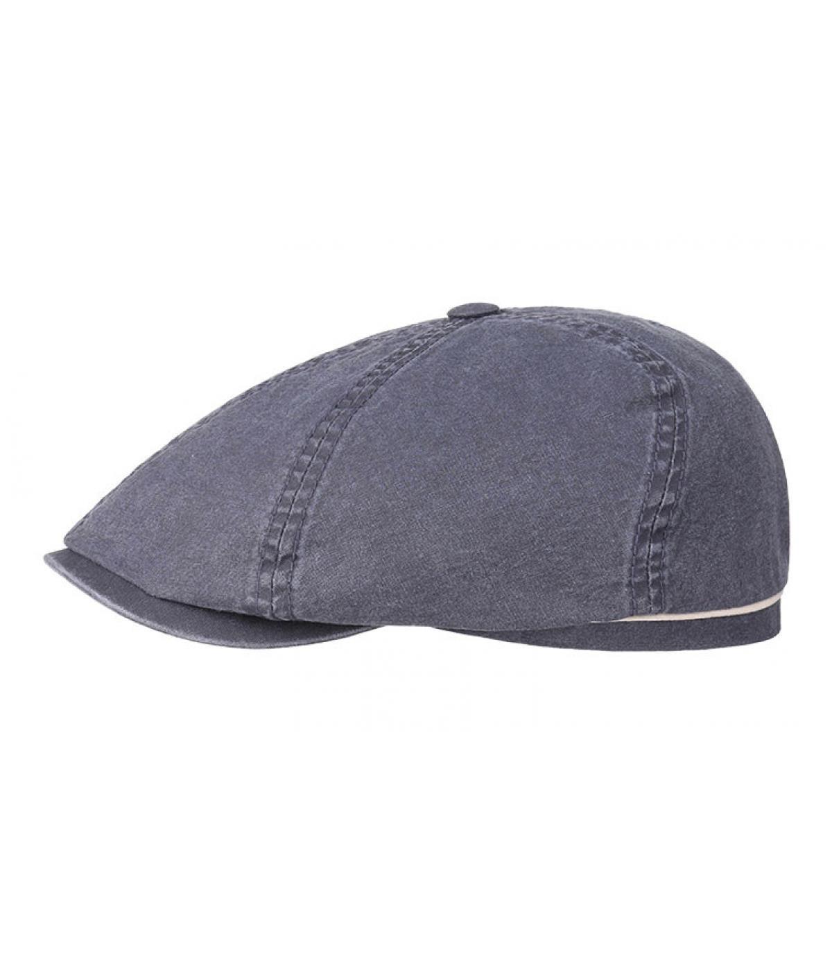 Détails Brooklyn cap delave coton organic bleu - image 2