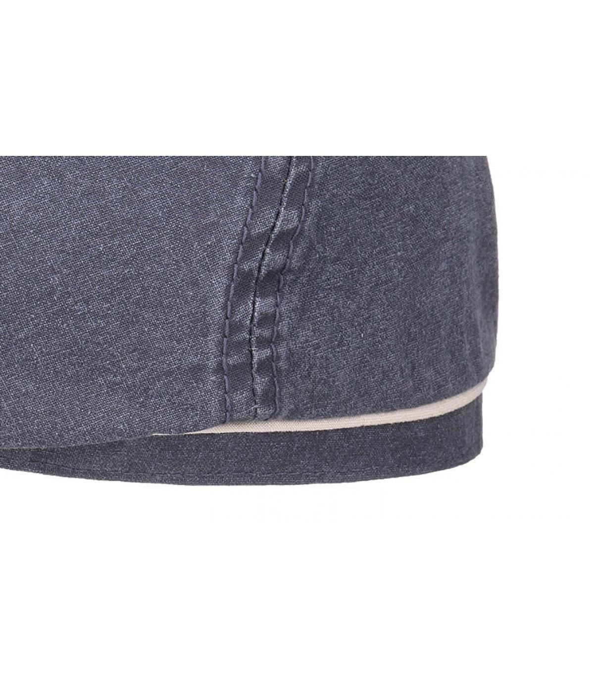 Détails Brooklyn cap delave coton organic bleu - image 3