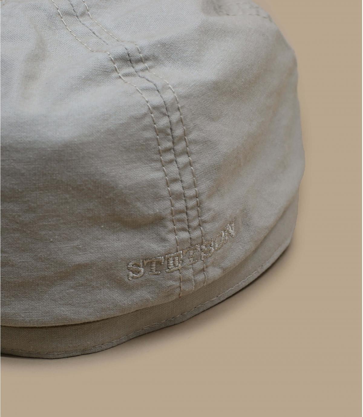 Détails Brooklyn cap delave coton organic beige - image 2