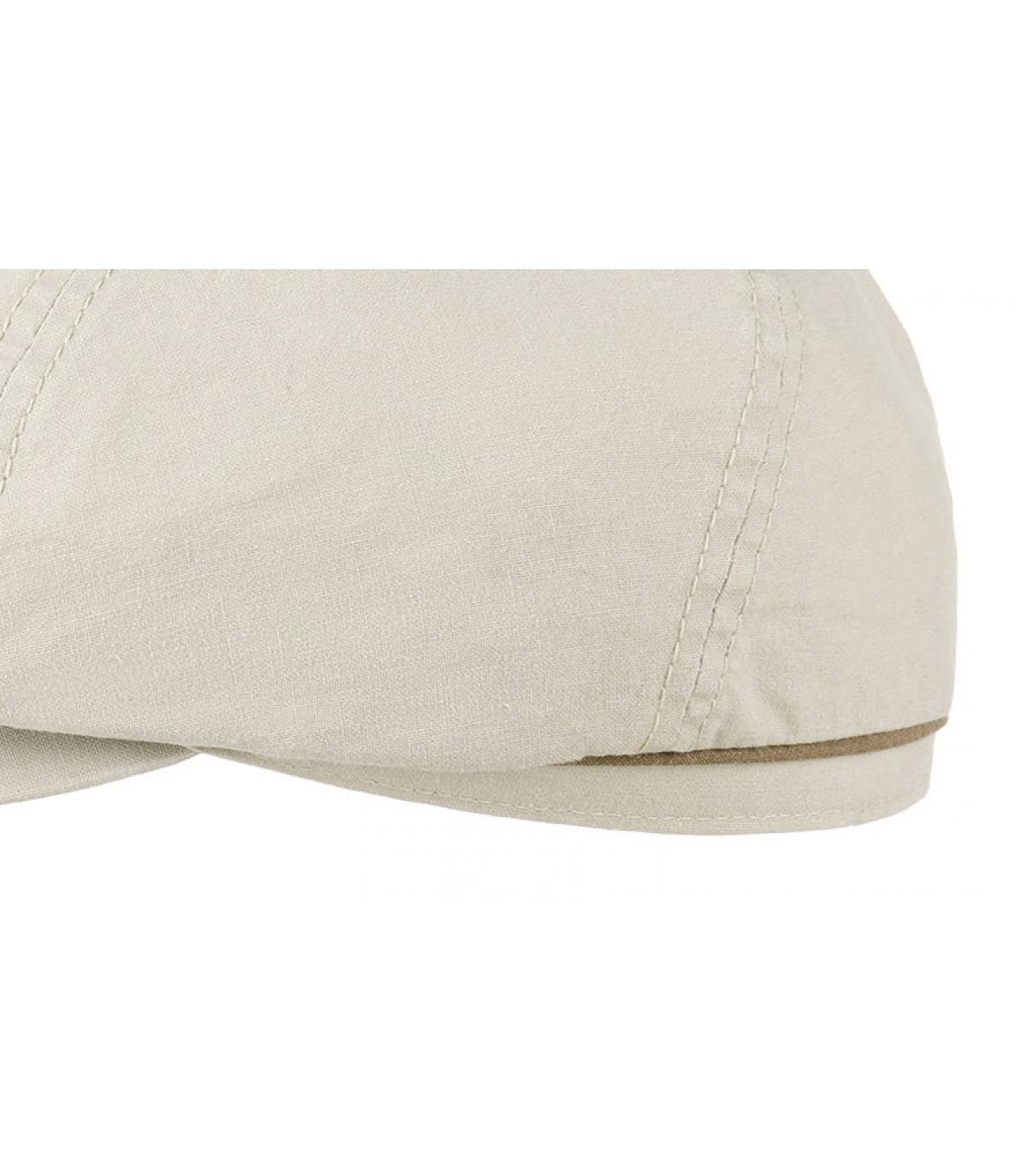 Détails Brooklyn cap delave coton organic beige - image 3