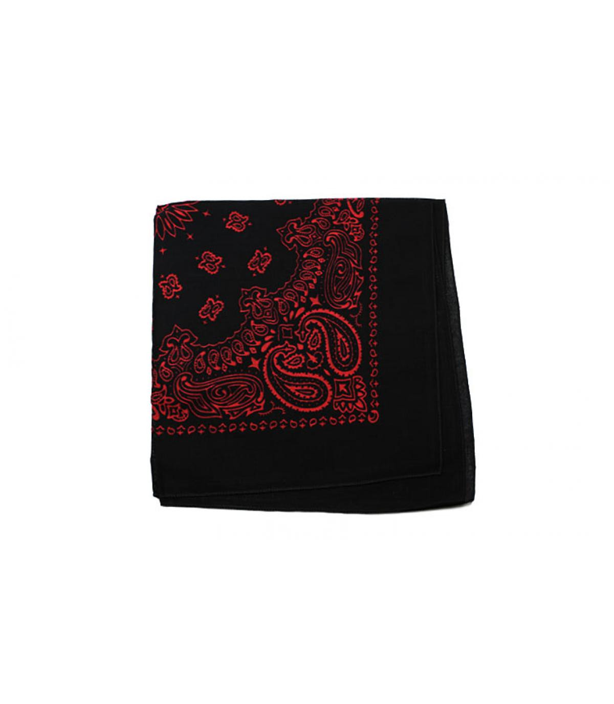bandana noir rouge