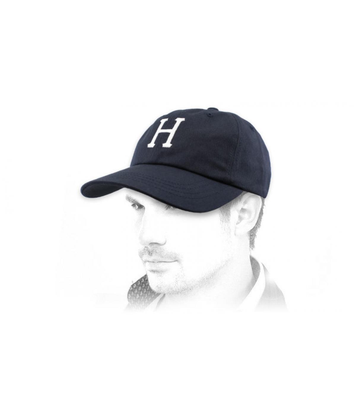 casquette Huf bleu marine