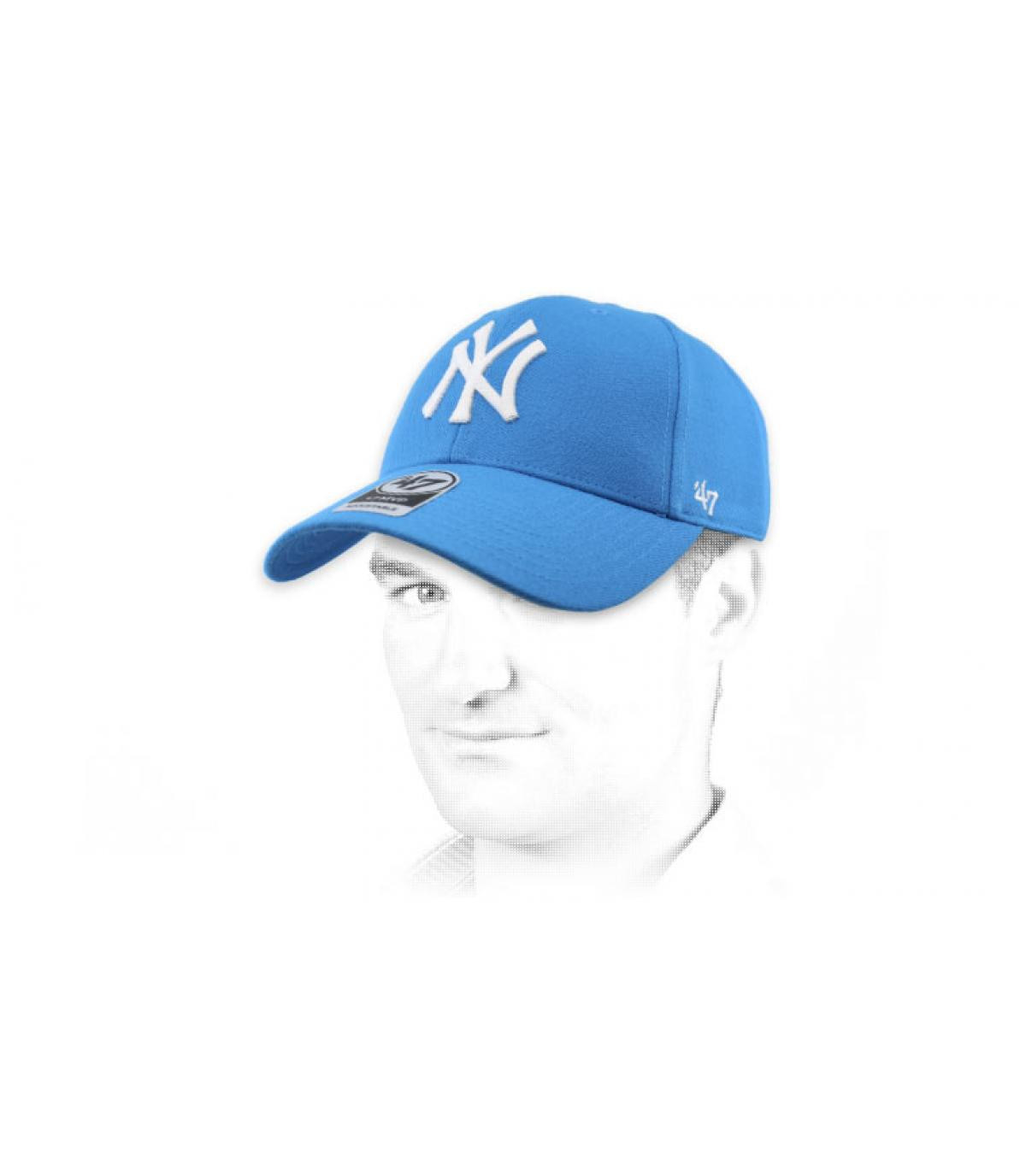 casquette NY turquoise47