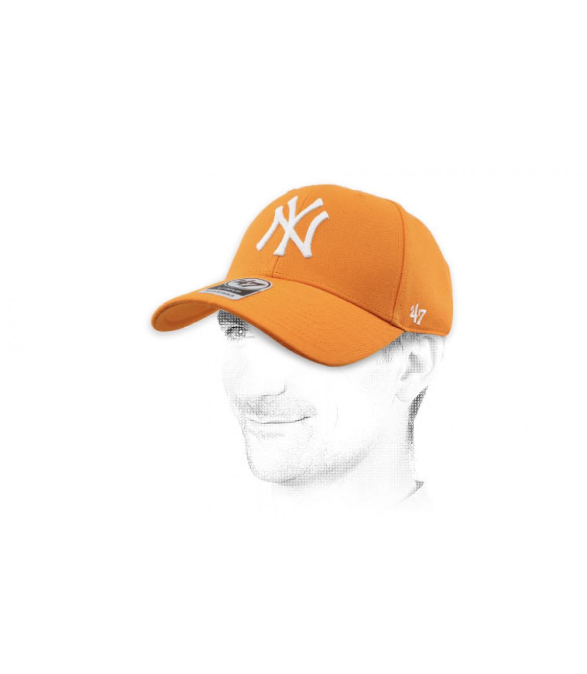casquette NY orange47