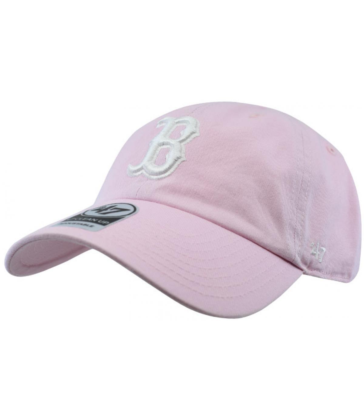 casquette Boston rose pâle