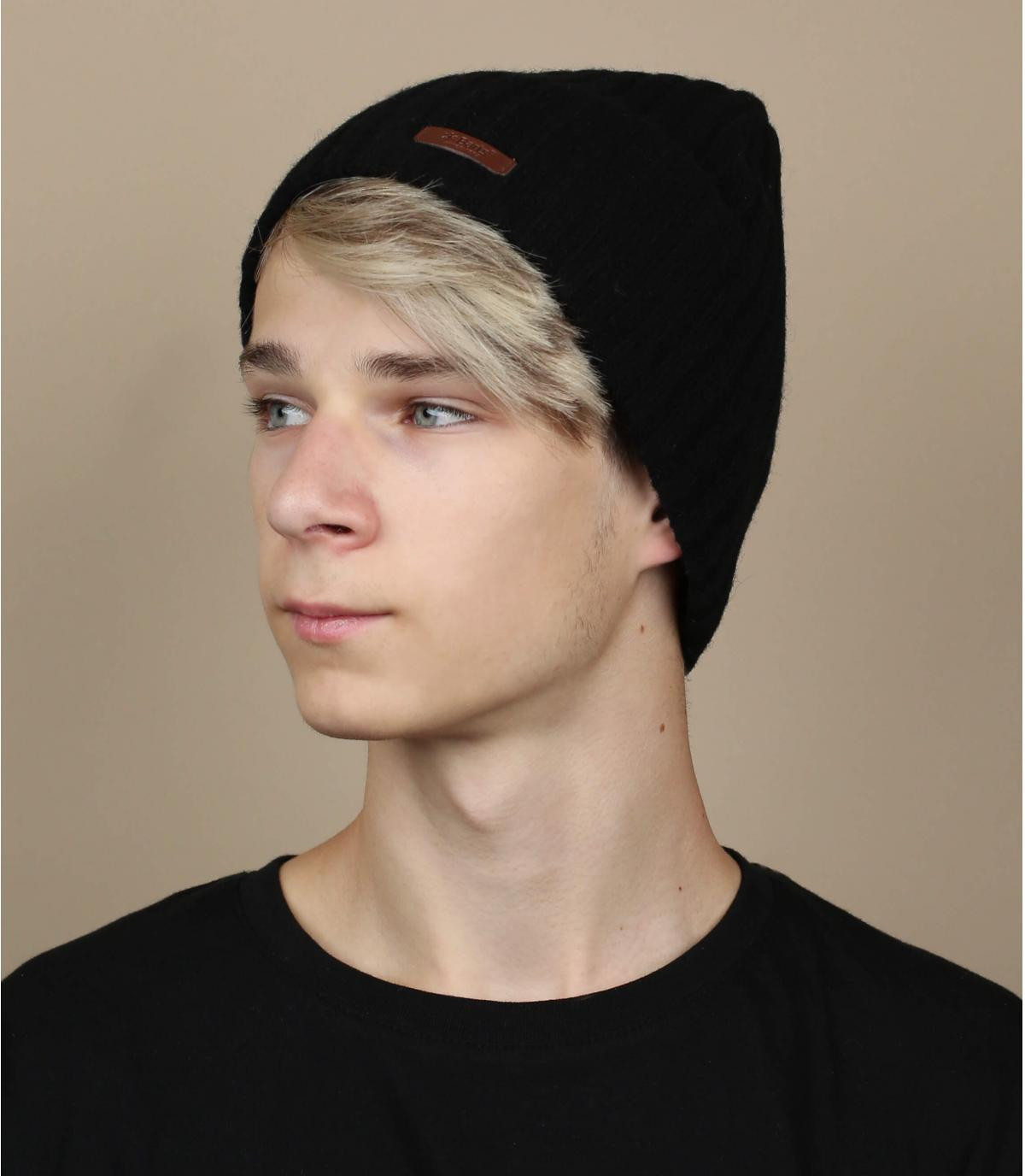 Bonnet haakon noir