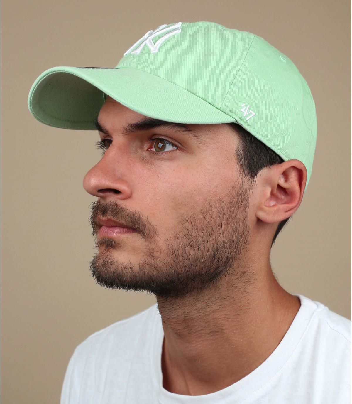 casquette NY vert pâle