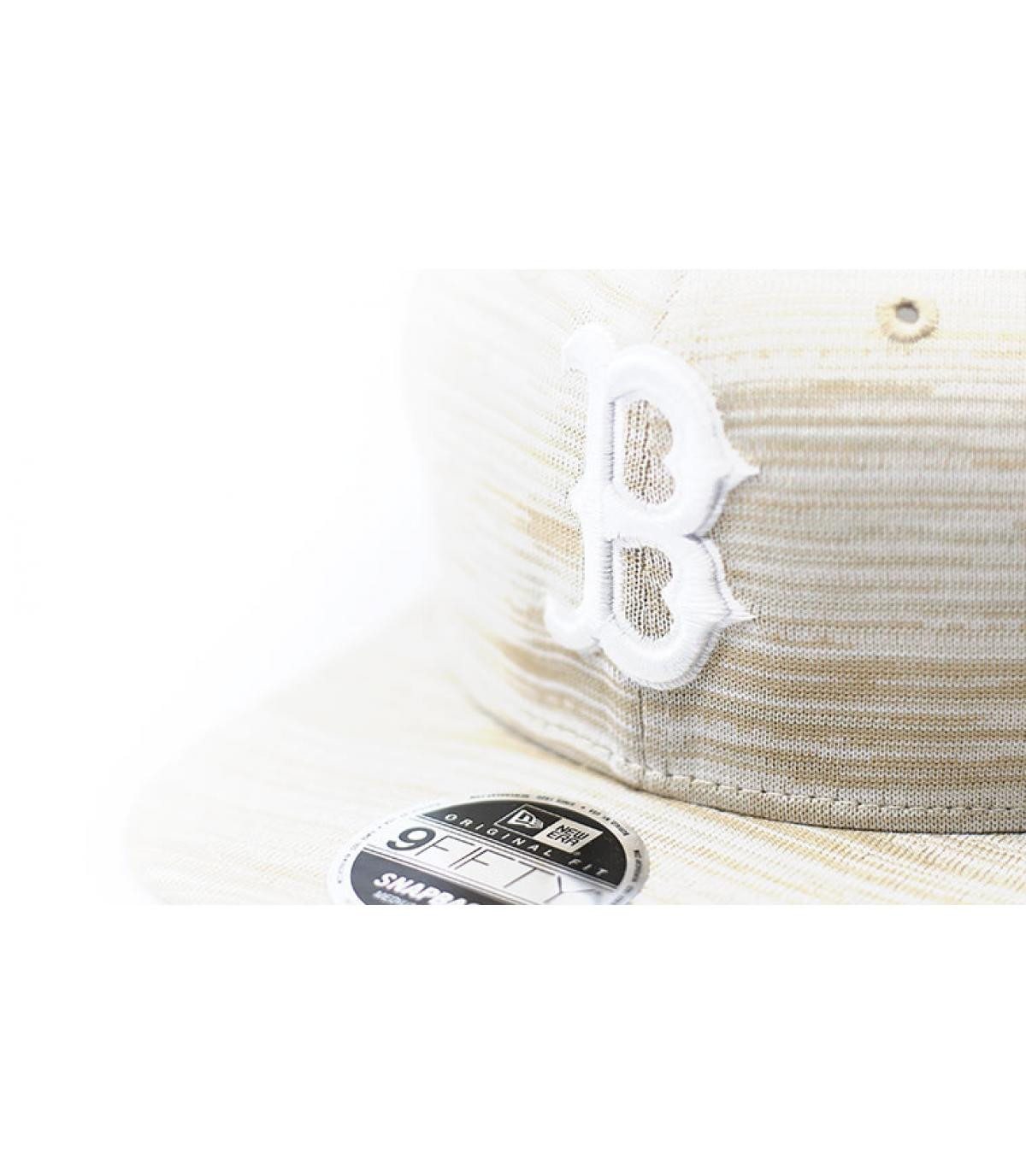 Détails Snapback Engineered Fit 9Fifty Boston stone white - image 3