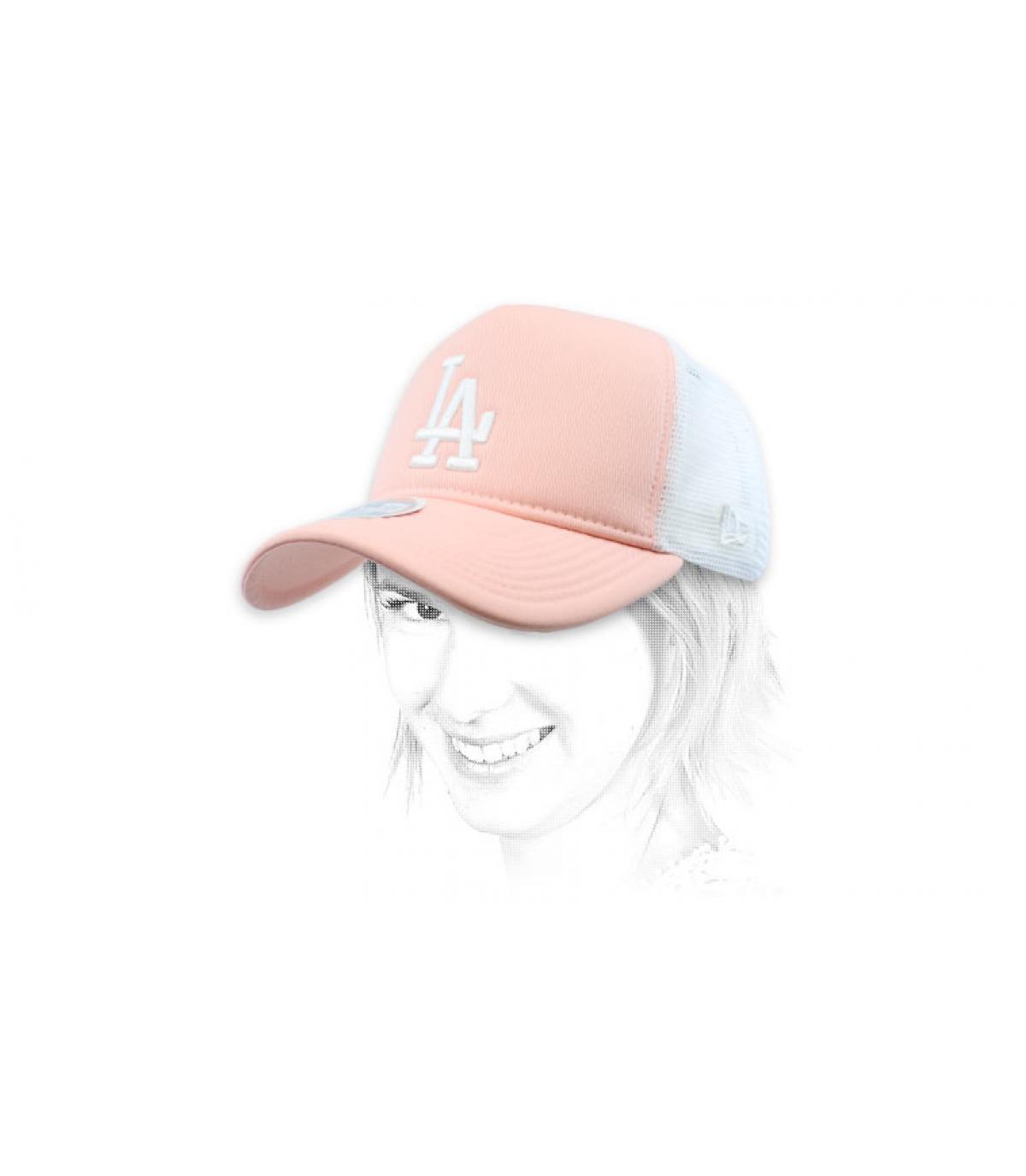 trucker LA rose femme