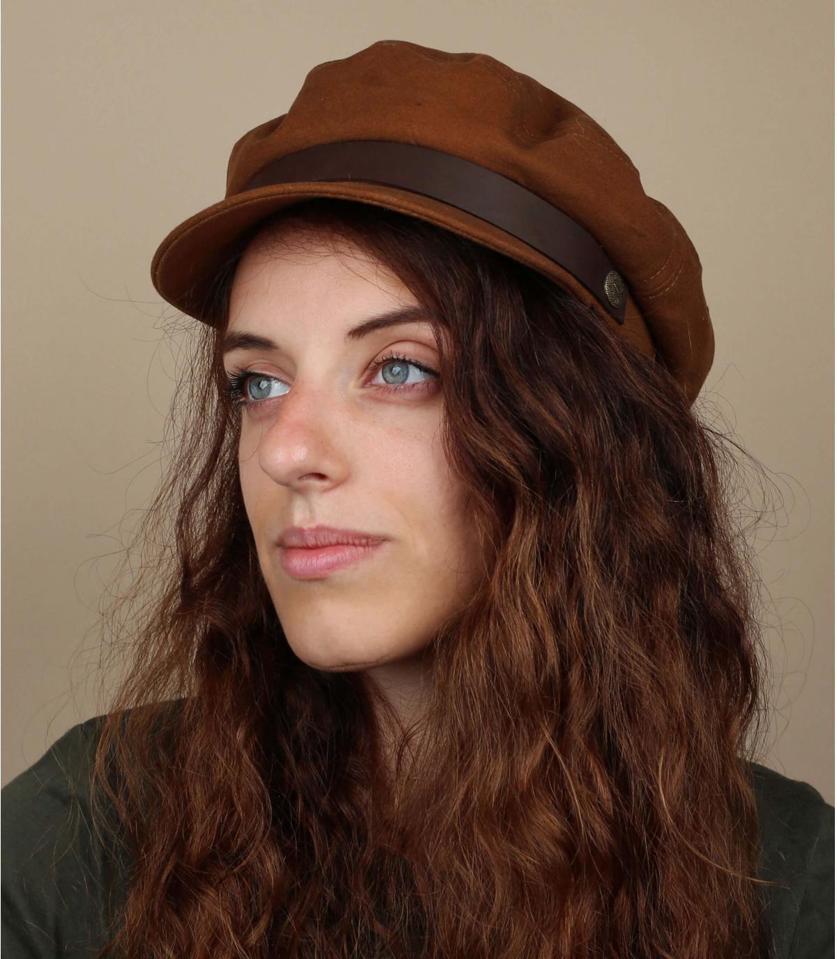 casquette marin femme beige