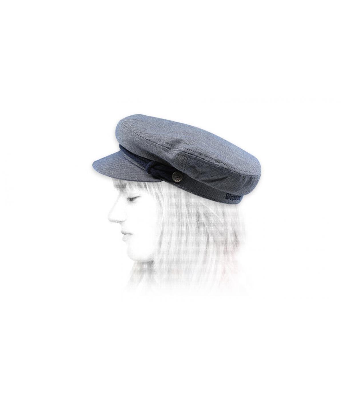 casquette marin femme bleu