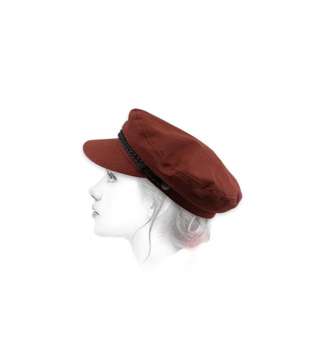casquette marin femme bordeaux