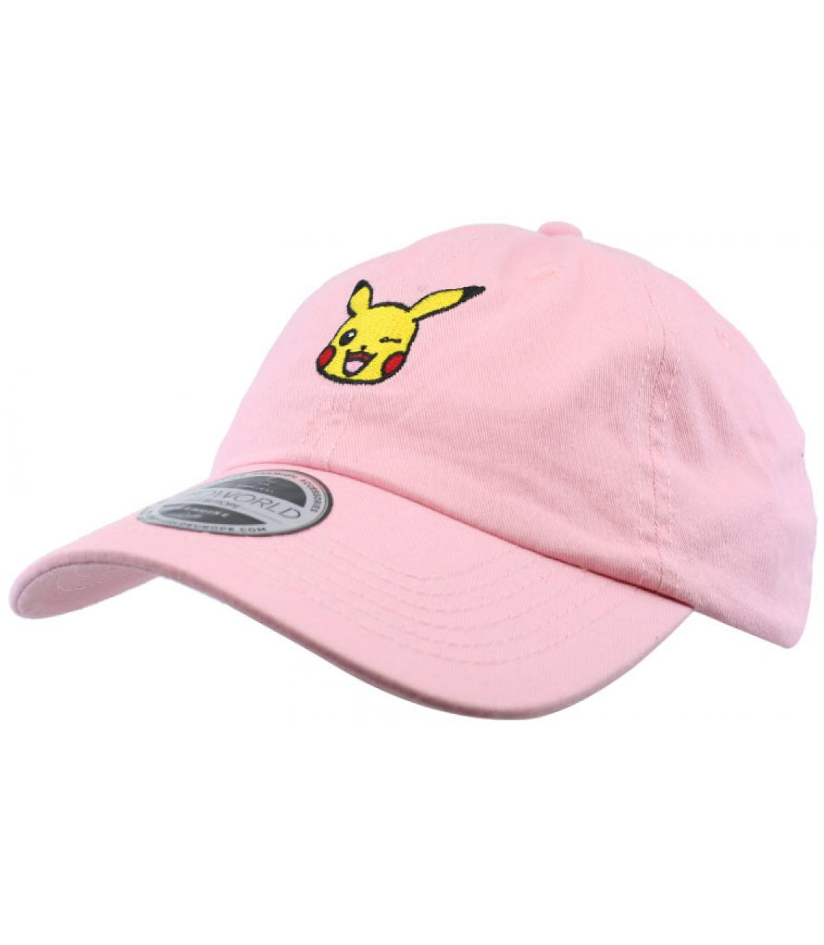 438797b62f3768 casquette Pikachu Pokemon rose - Pikachu Dad Hat pink par Bioworld ...