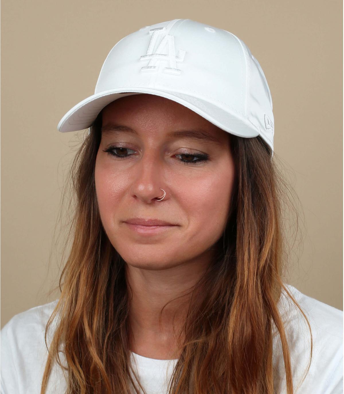 casquette femme LA blanc