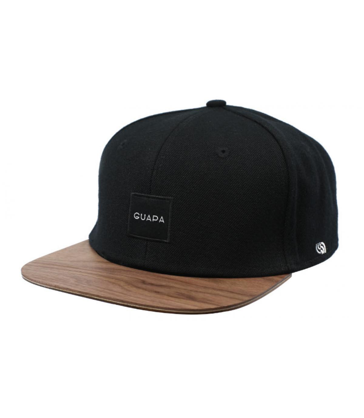 snapback noir bois Guapa