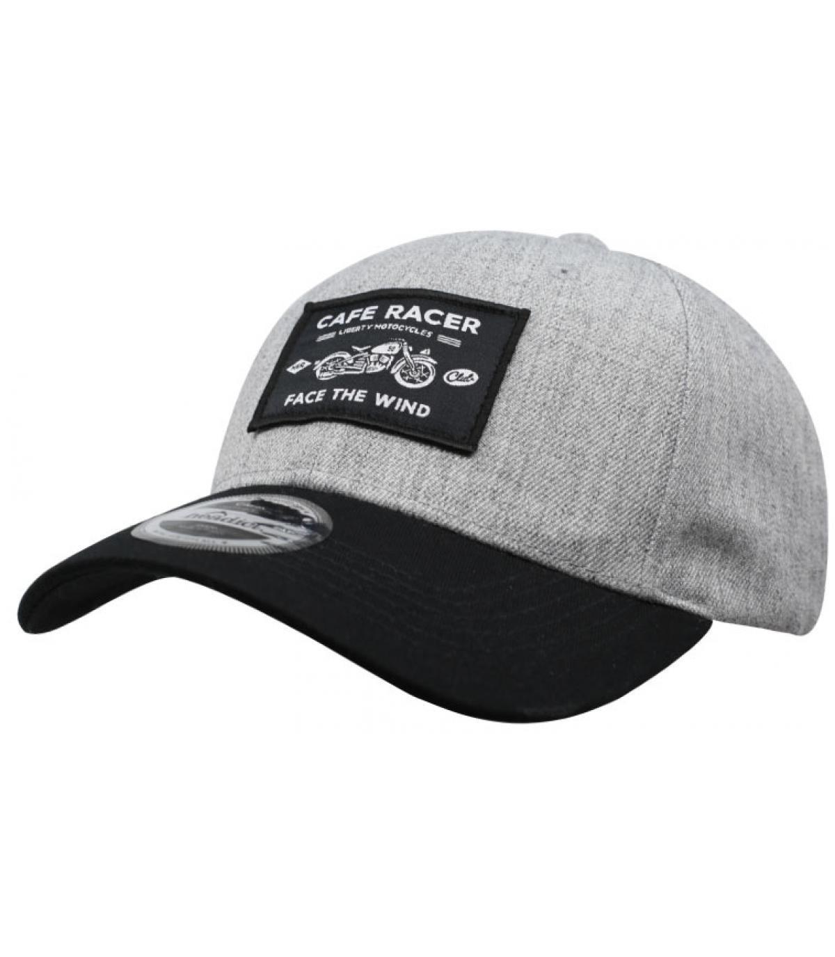 casquette Café Racer gris