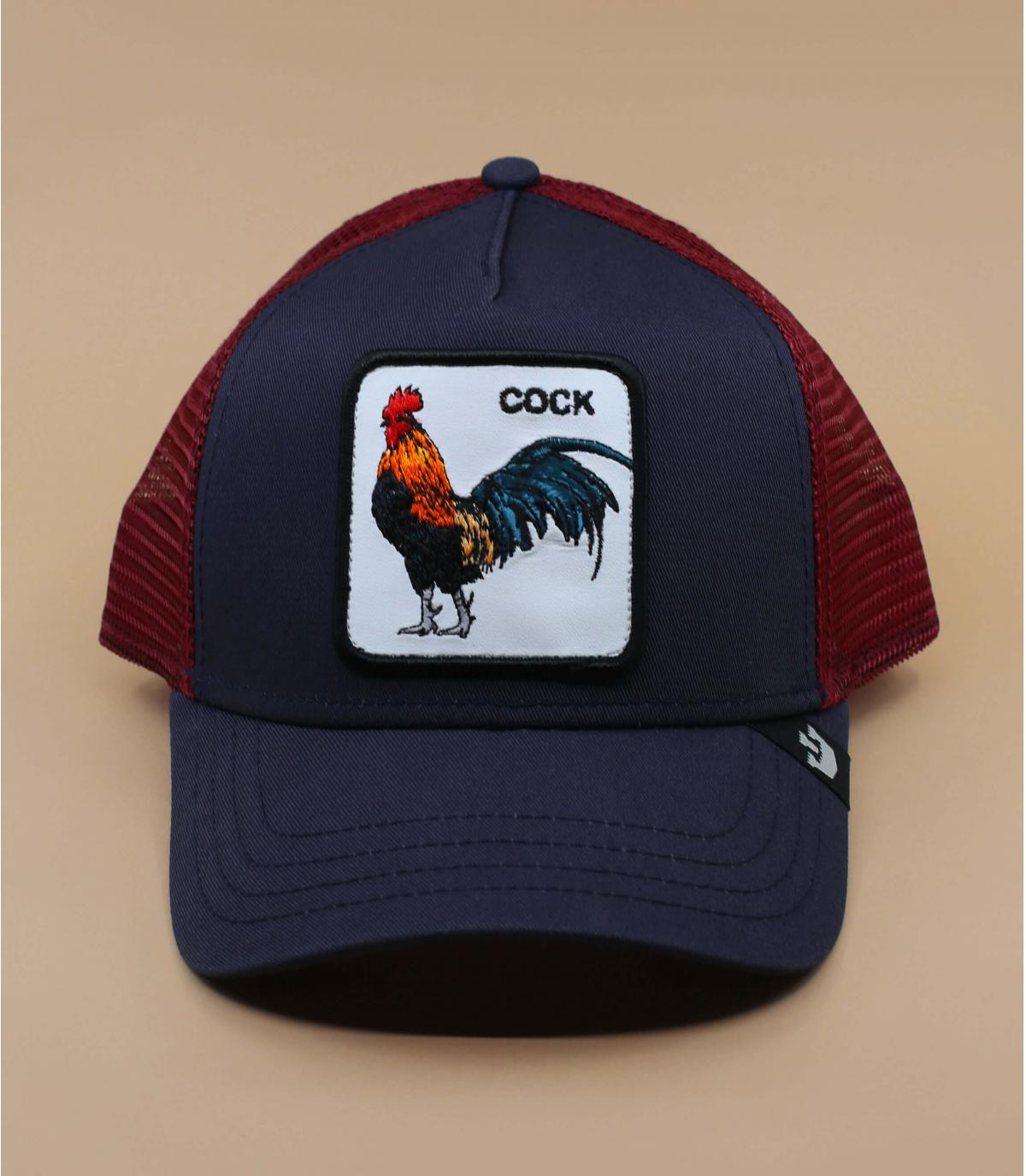 trucker coq Goorin bleu