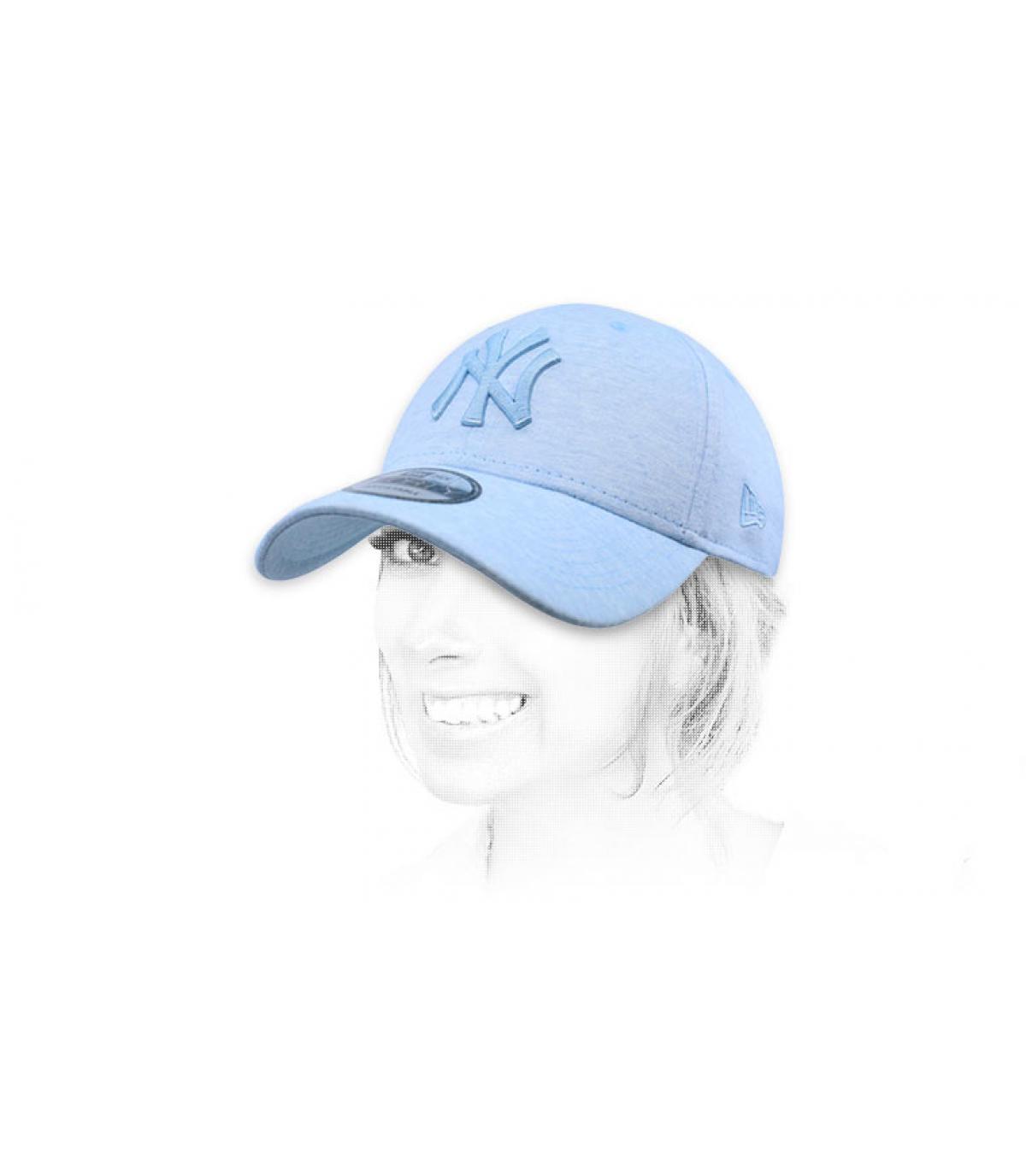 casquette NY bleu ciel