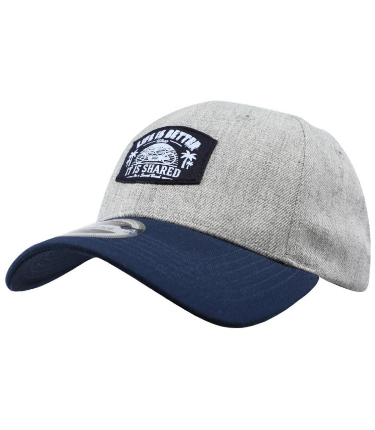 casquette tandem gris bleu