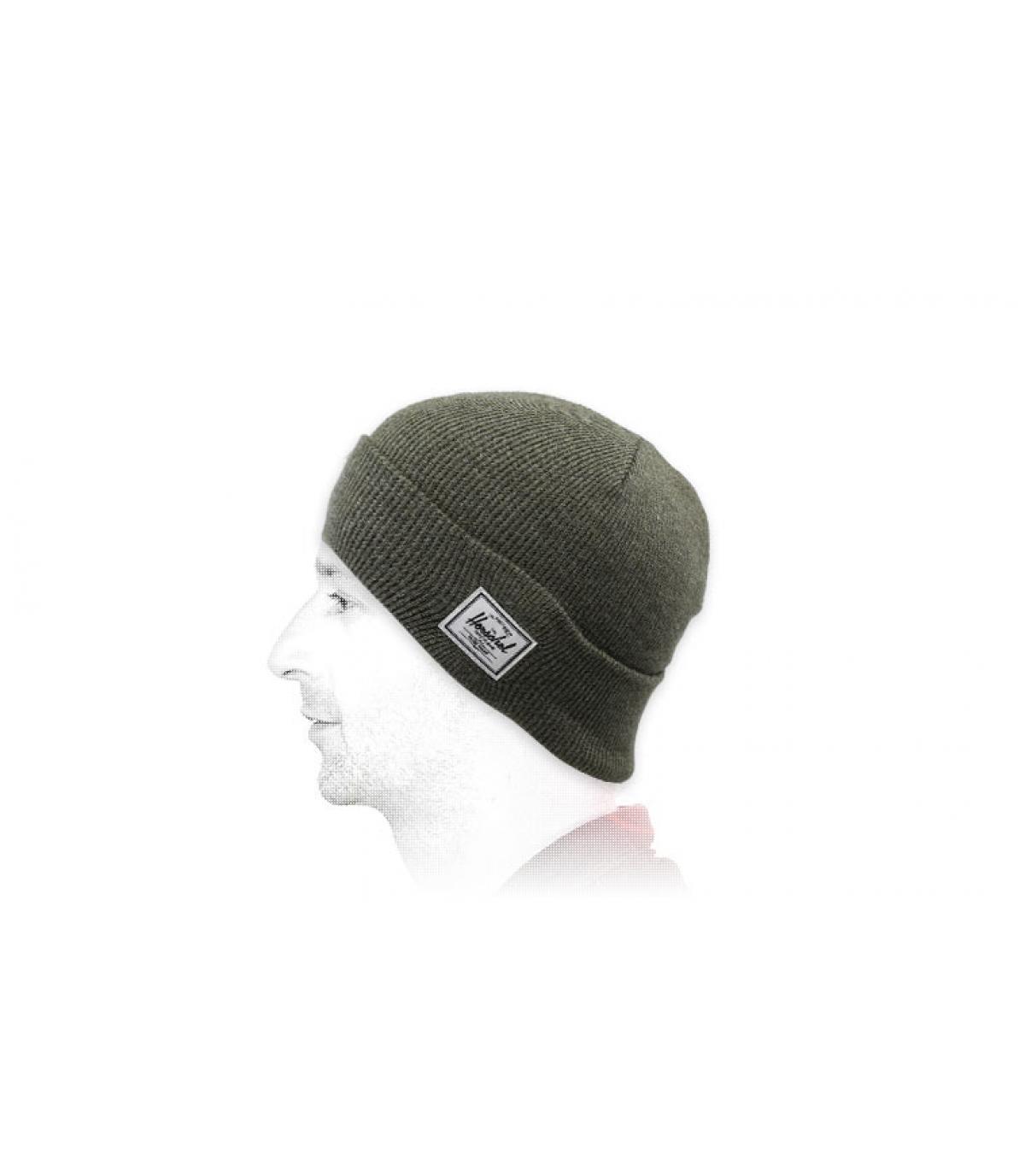 bonnet revers vert Herschel