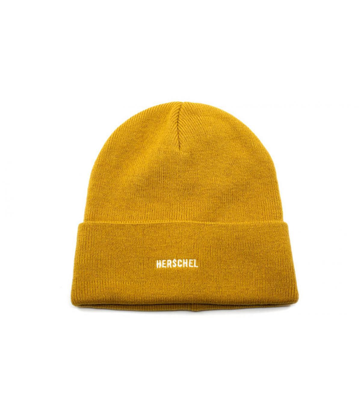 bonnet revers moutarde Herschel