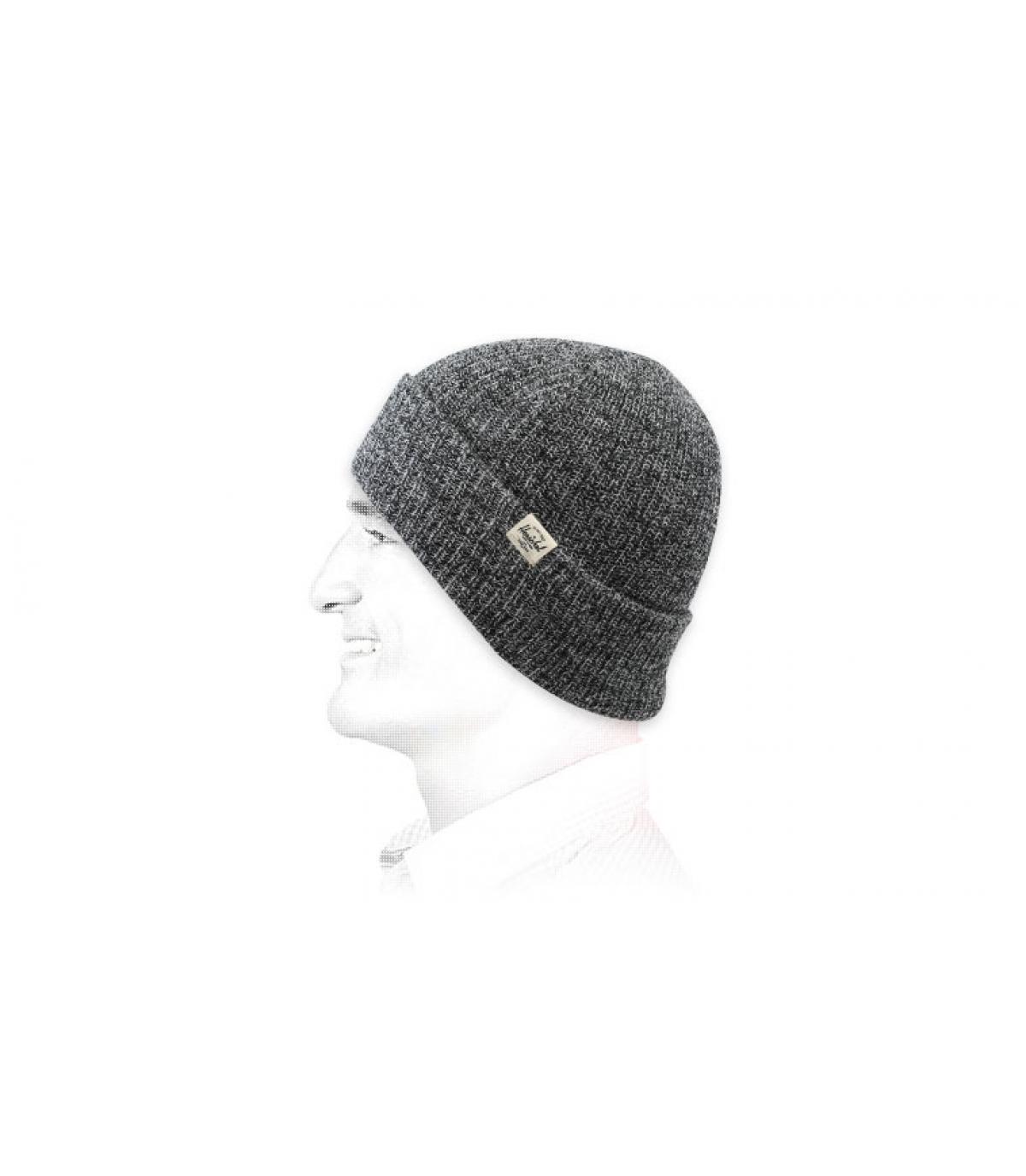 bonnet revers gris chiné Herschel