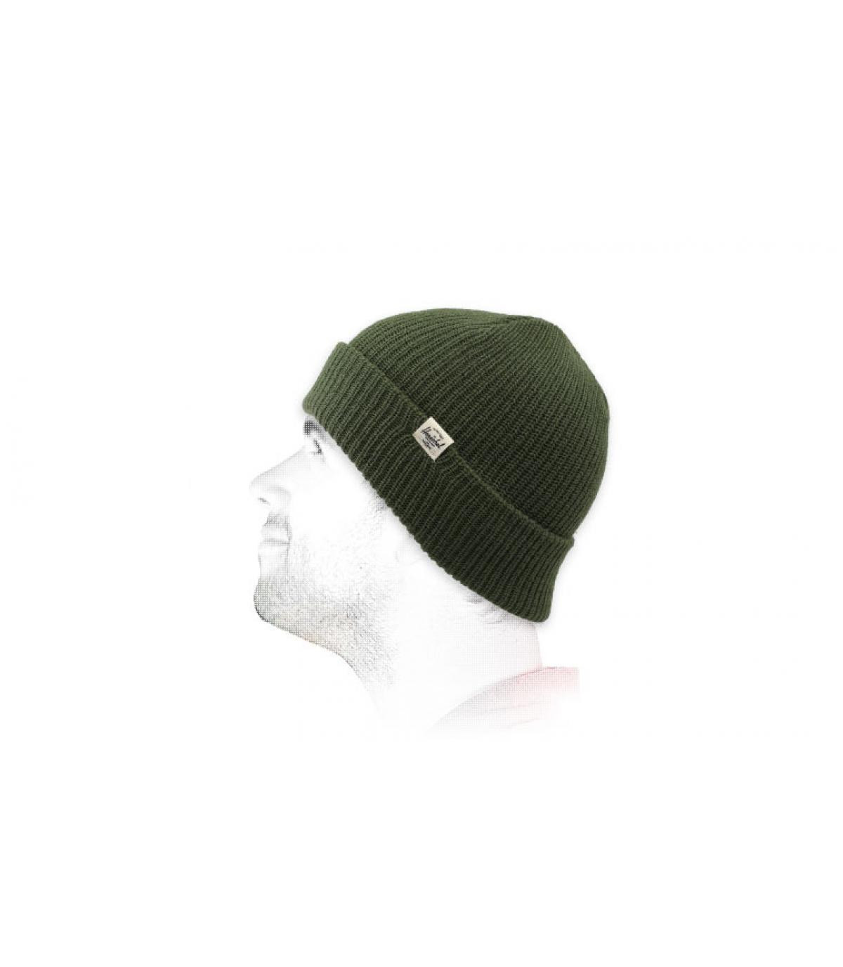 bonnet revers Herchel vert