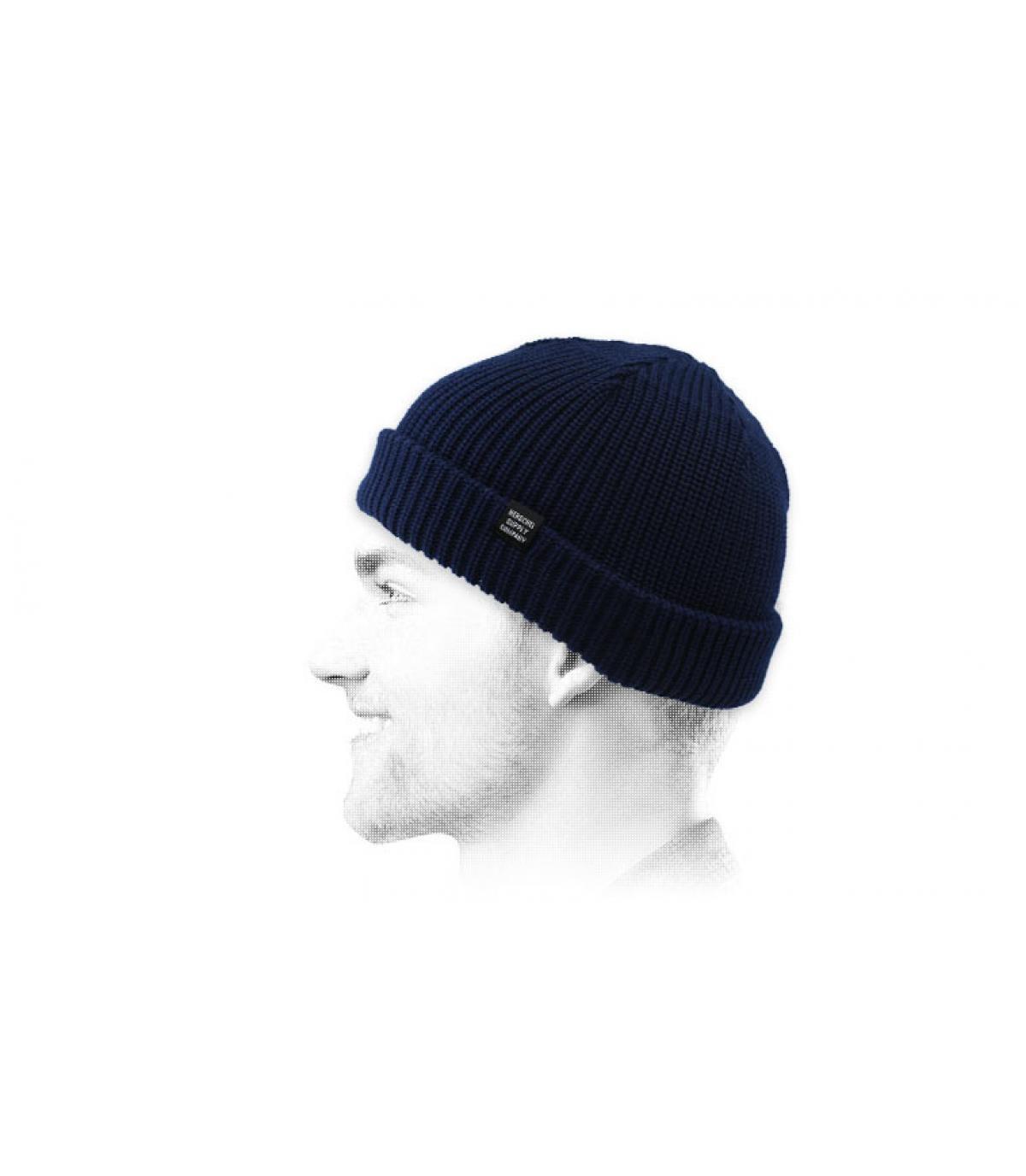 bonnet docker bleu Herschel