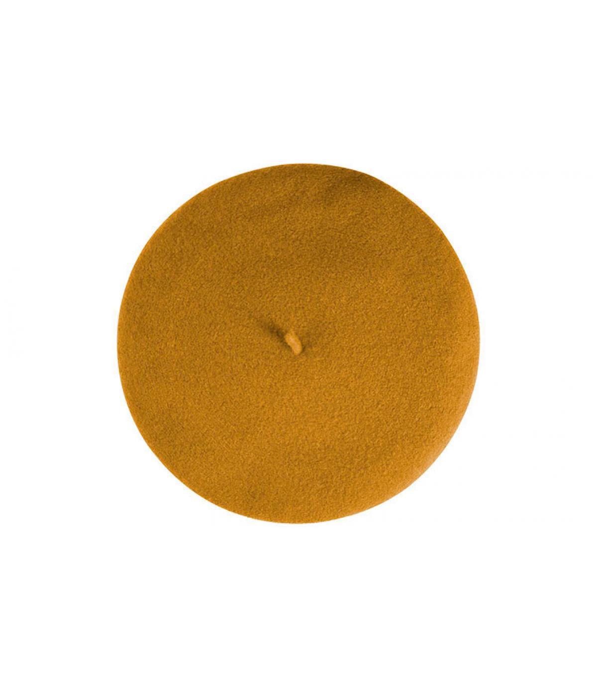 béret  laine moutarde