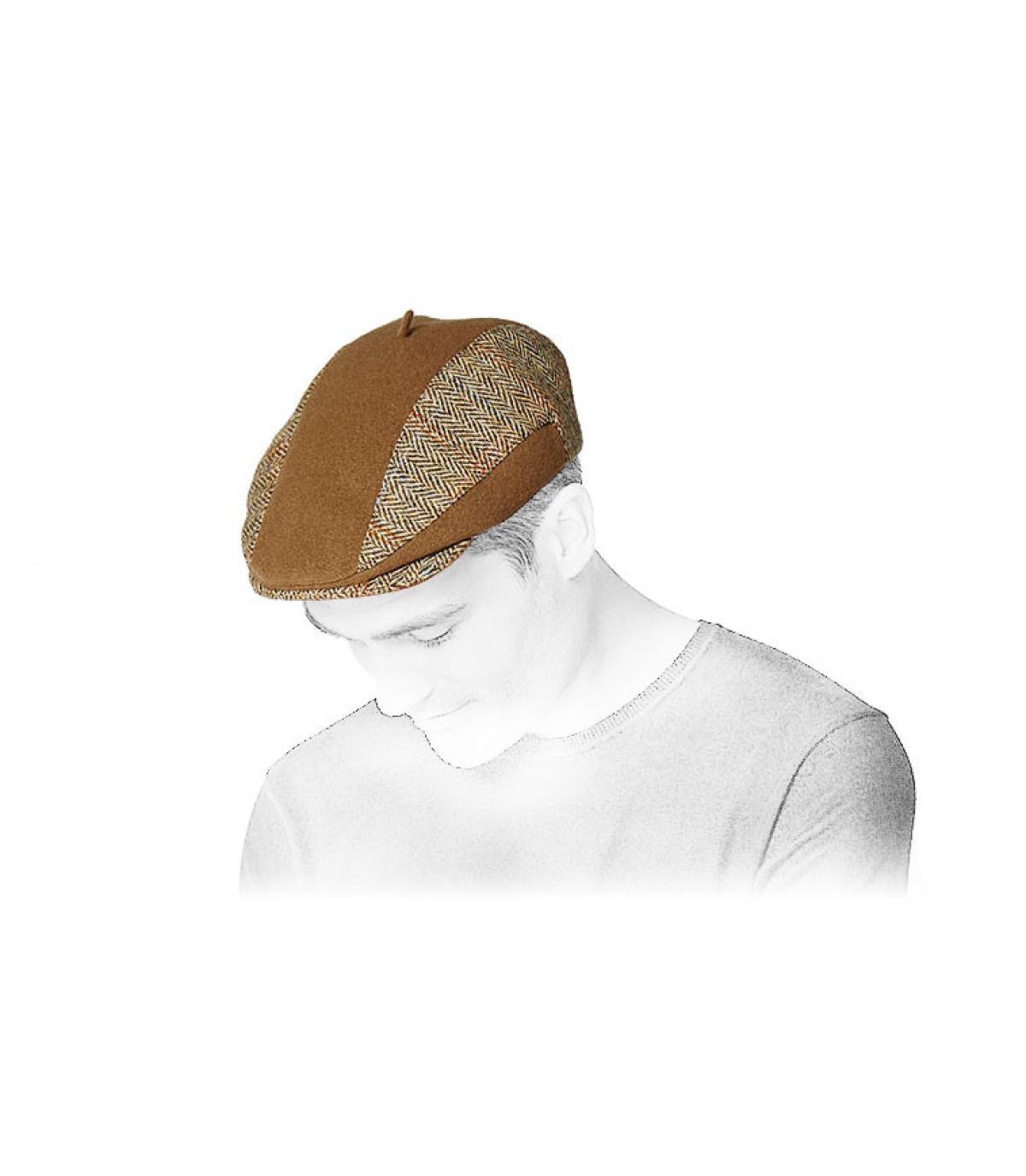 casquette harrys tweed beige