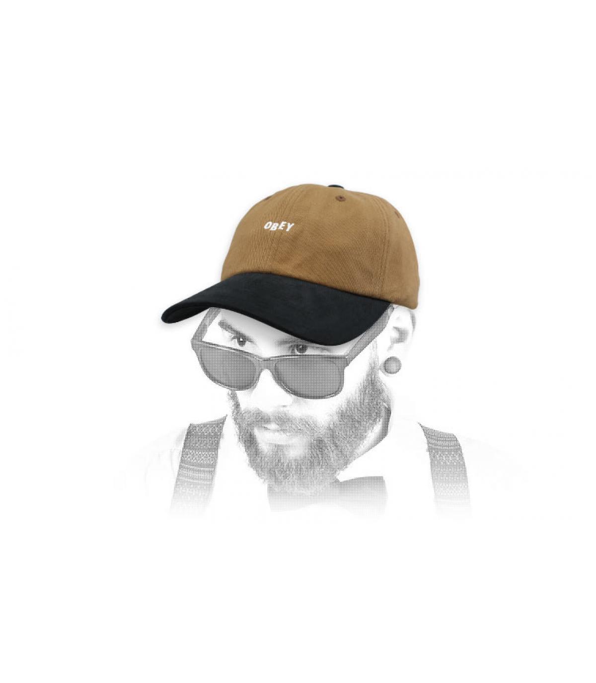 casquette marron noir Obey