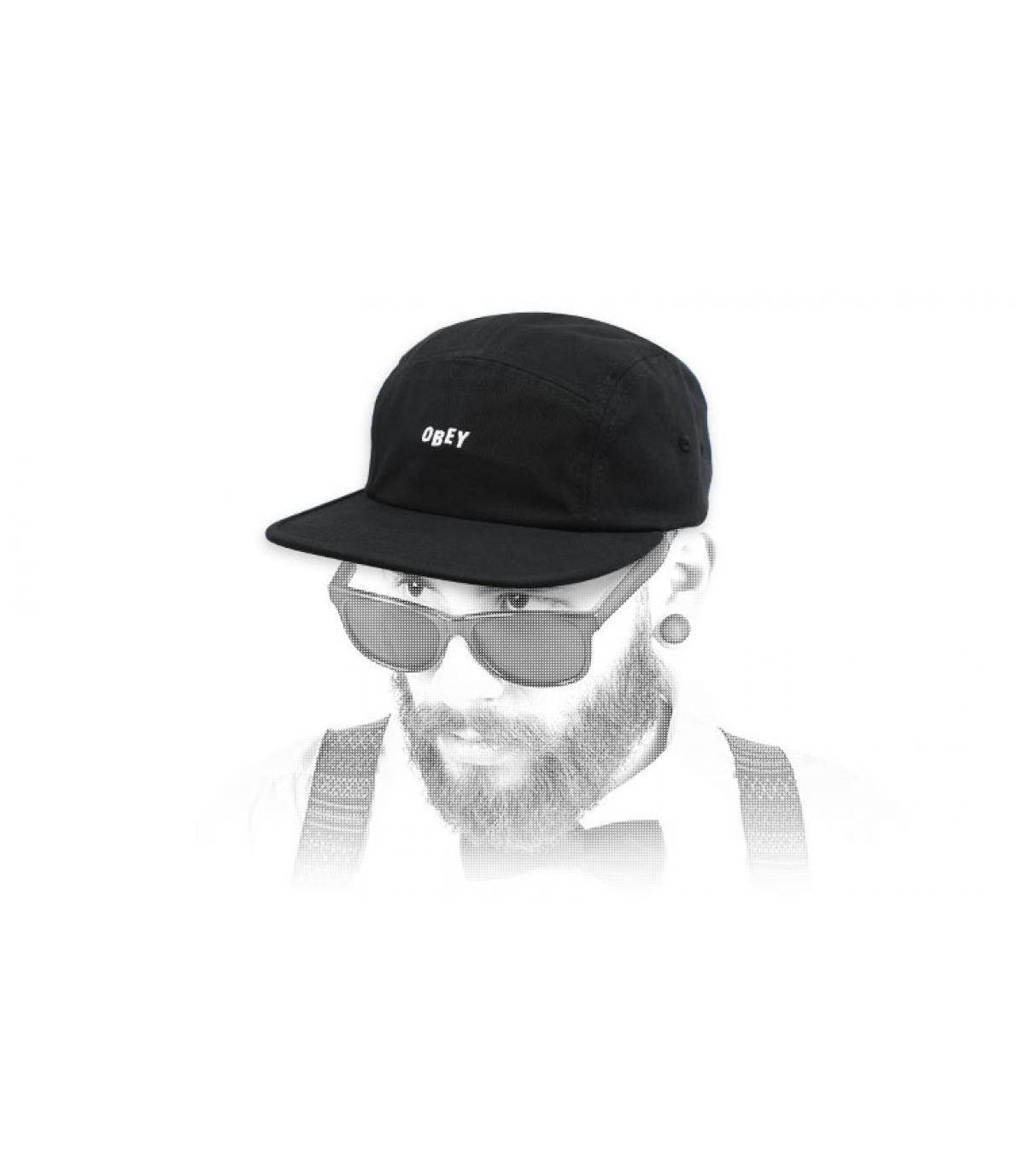 casquette 5 panel noir