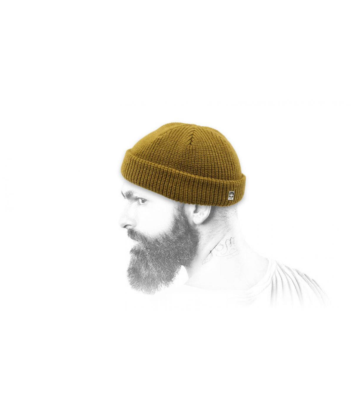 bonnet docker marron Obey