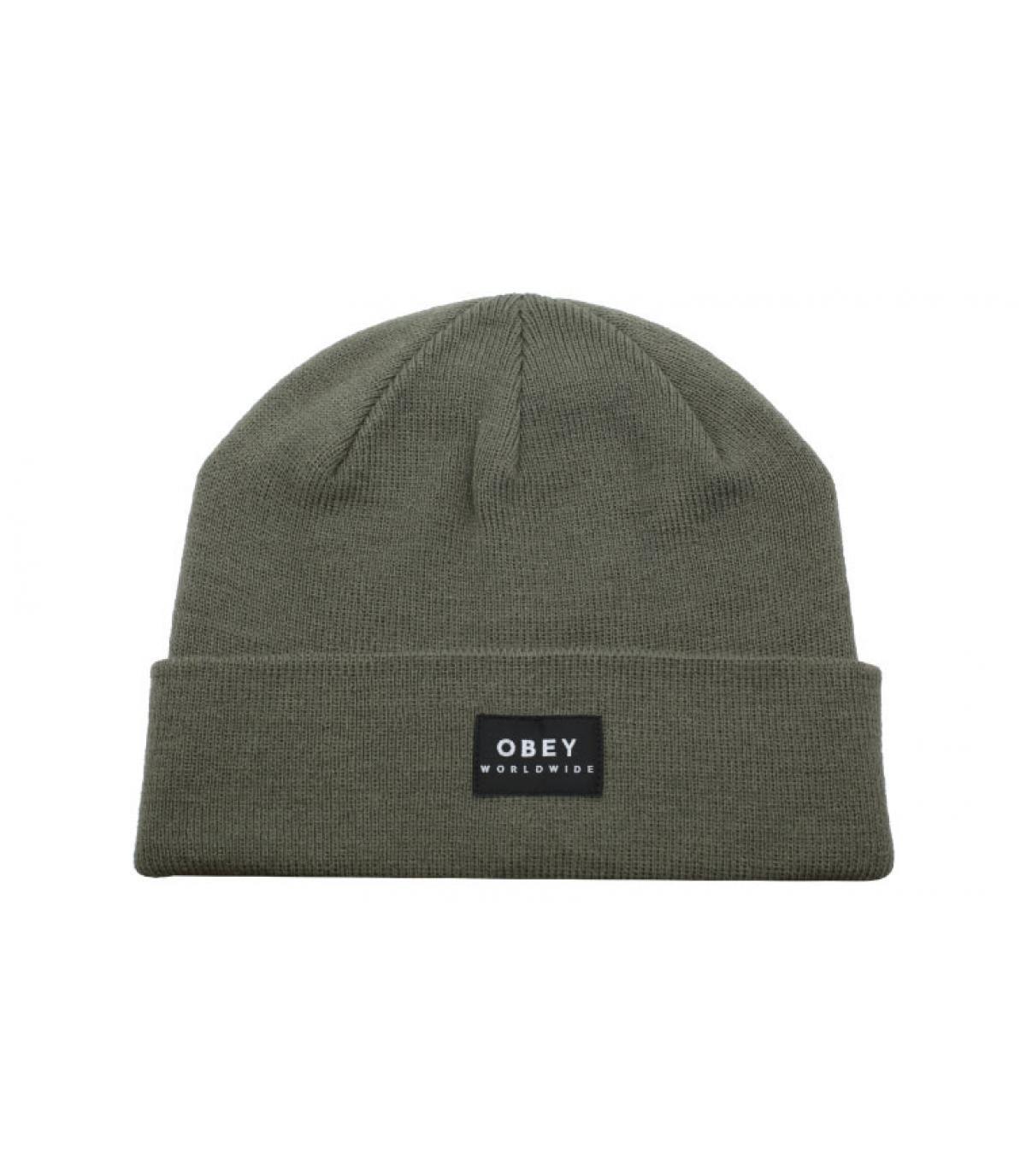 bonnet revers vert Obey