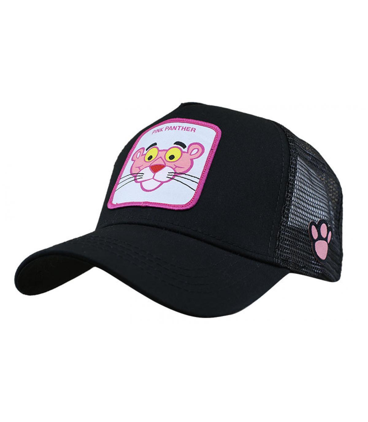 trucker panthère rose noir