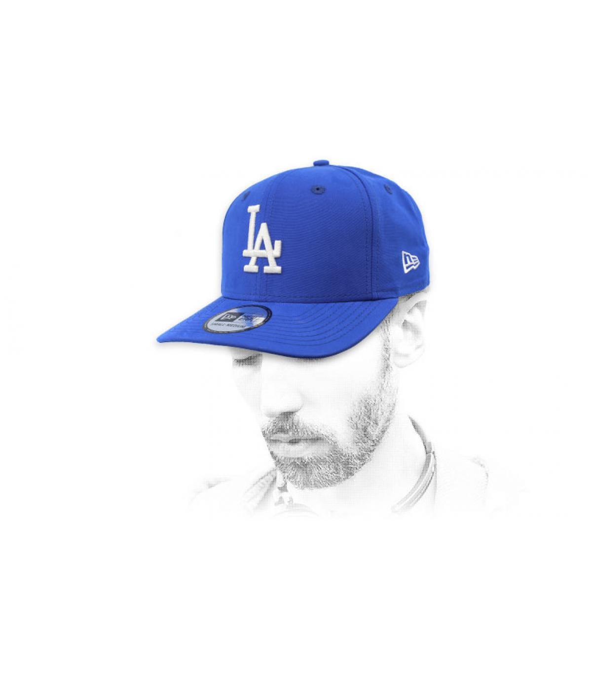 casquette LA bleu déperlant